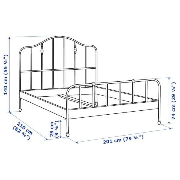 SAGSTUA Bed frame, black/Luröy, King