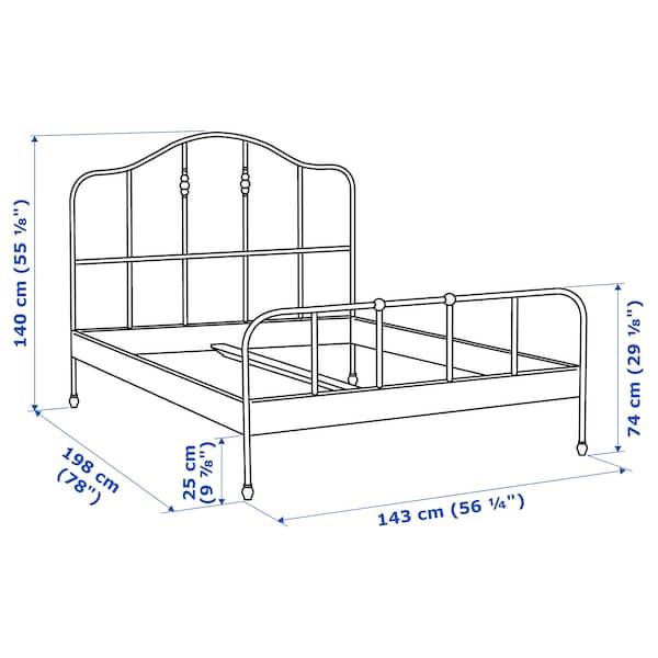 SAGSTUA Bed frame, black/Luröy, Full