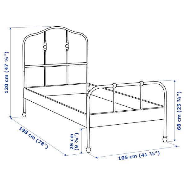 SAGSTUA Bed frame, black, Twin