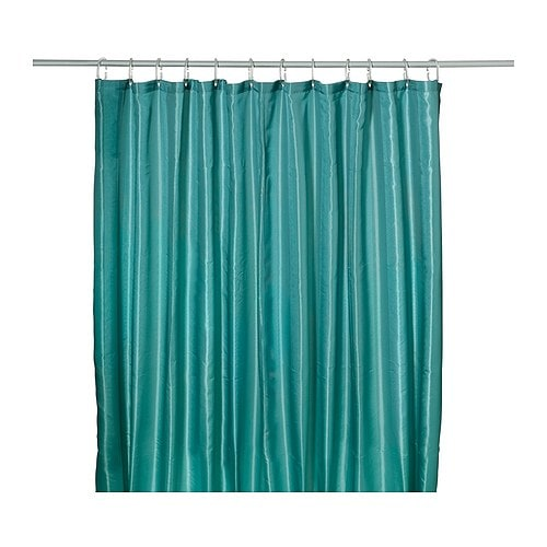 SALTGRUND Shower curtain IKEA Two-sided woven polyester which gives a ...