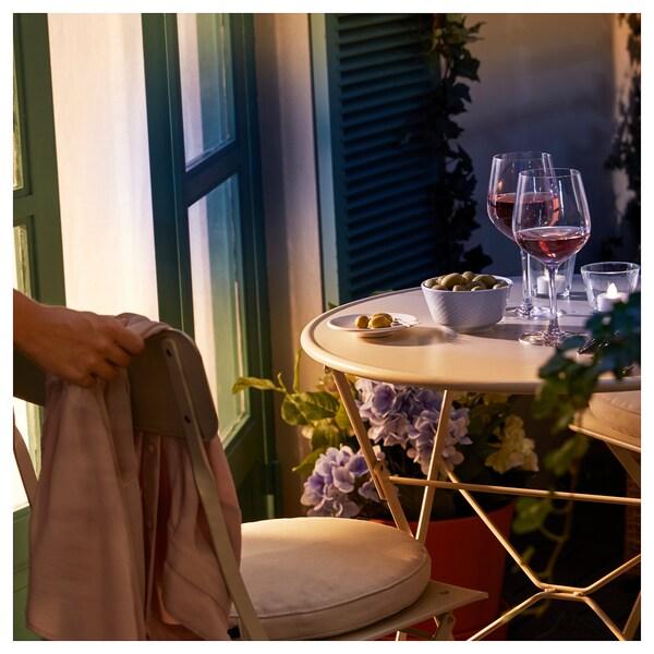 "SALTHOLMEN chair, outdoor foldable beige 243 lb 16 1/2 "" 18 1/8 "" 32 5/8 "" 15 "" 13 3/4 "" 18 1/8 """