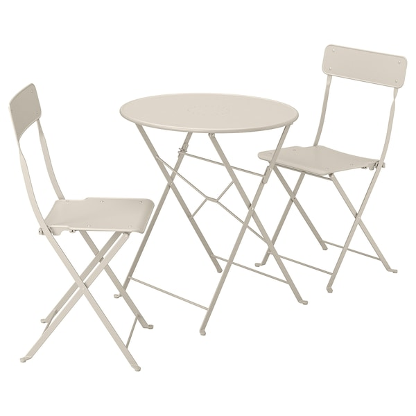 IKEA SALTHOLMEN Table and 2 folding chairs, outdoor
