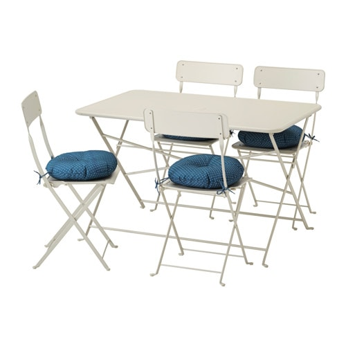 Saltholmen Table And 4 Folding Chairs Outdoor