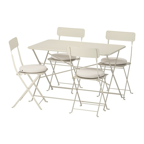 SALTHOLMEN Table And 4 Folding Chairs, Outdoor