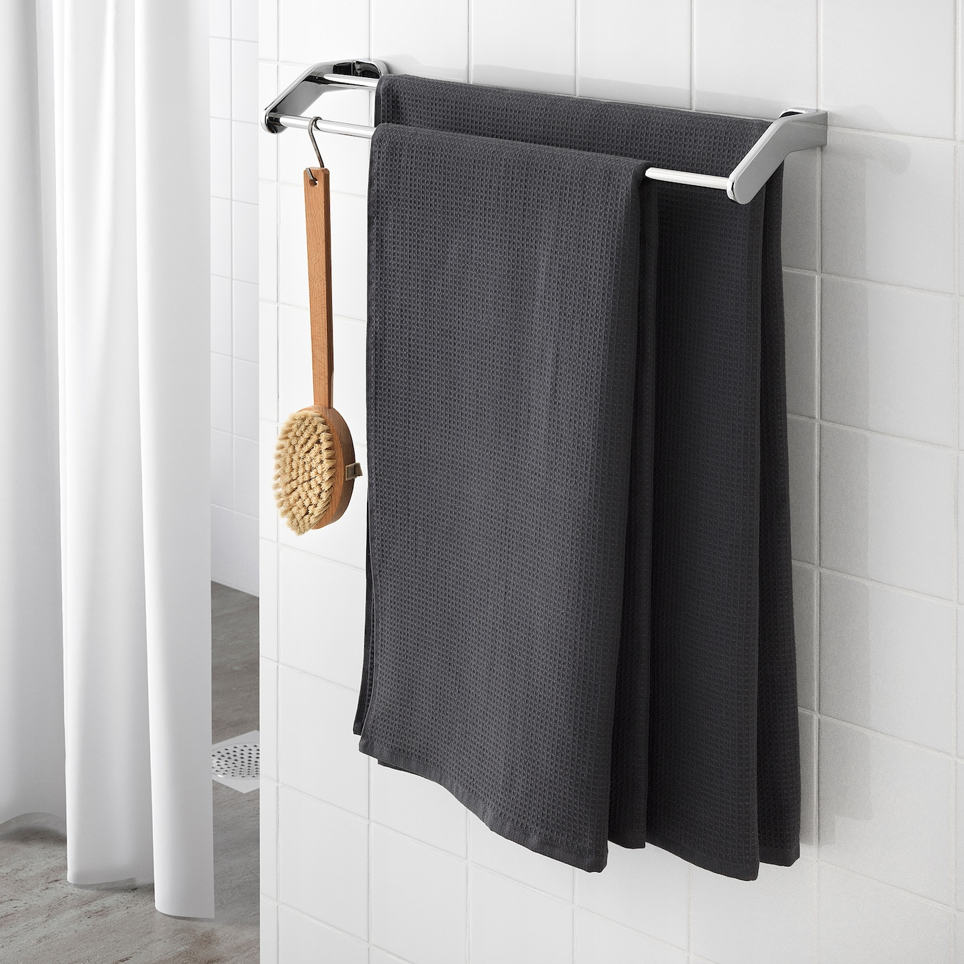 Salviken Bath Sheet Anthracite 39x59 Ikea