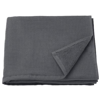 "SALVIKEN Bath towel, anthracite, 28x55 """