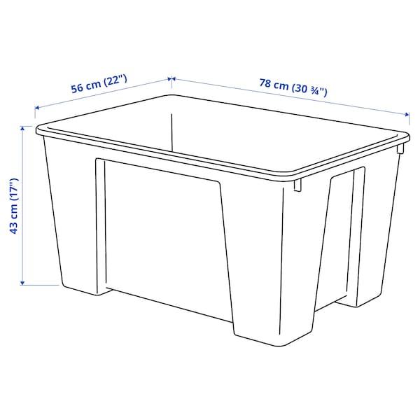 "SAMLA Box, clear, 30 ¾x22x17 ""/34 gallon"