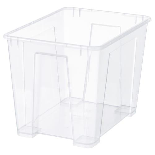 """SAMLA box clear 15 ¼ """" 11 """" 11 """" 6 gallon"""