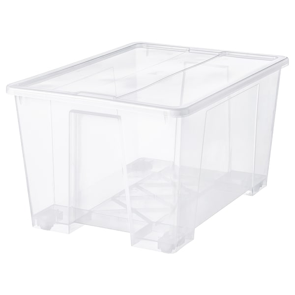 "SAMLA Box with lid, clear, 31x22 ½x17 ""/34 gallon"