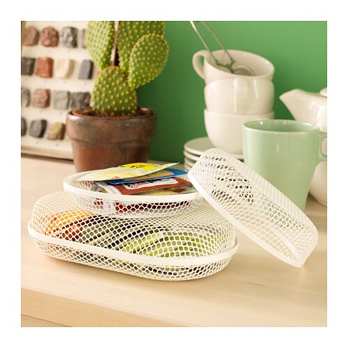SAMMANHANG Box with lid, set of 2 IKEA Perfect for storing small things, and since you can see through the mesh net, you quickly find what you need.