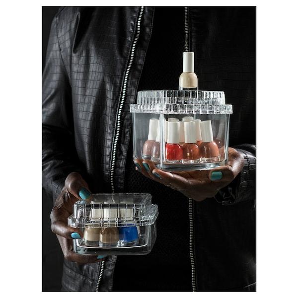 "SAMMANHANG Glass box with lid, clear glass, 5 1/8x5 1/8x4 3/4 """
