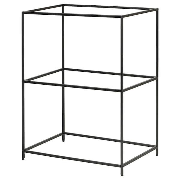 "SAMMANHANG Tray stand, black, 11x7 7/8x15 3/8 """