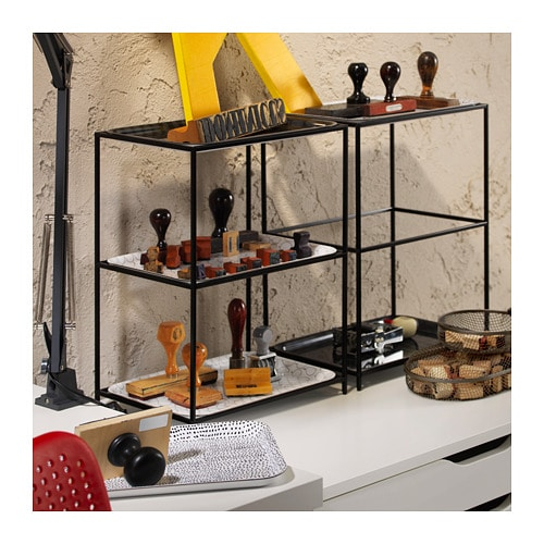 SAMMANHANG Tray stand with trays IKEA Fill the stand with your favorite trays.   There are 3 different patterns – choose one or mix.
