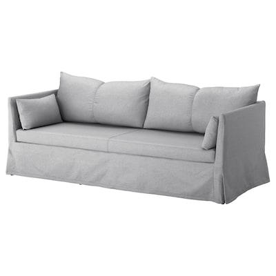"SANDBACKEN sofa Frillestad light gray 83 1/2 "" 30 3/4 "" 27 1/8 "" 27 1/2 "" 16 1/2 """