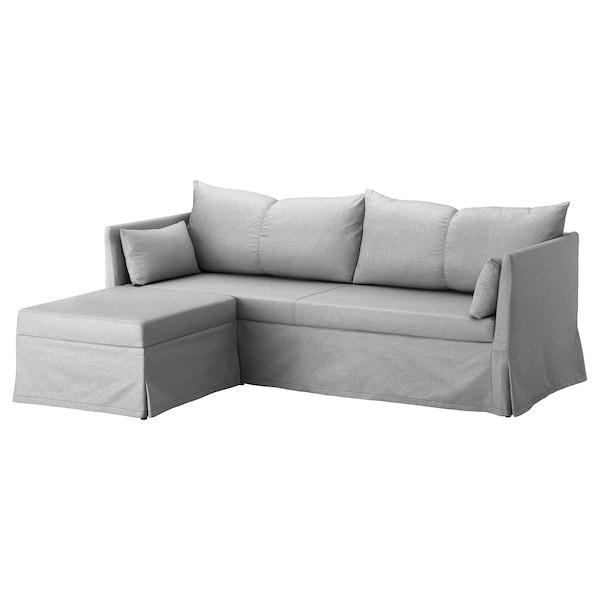 Sandbacken Sleeper Sectional 3 Seat Frillestad Light Gray Ikea