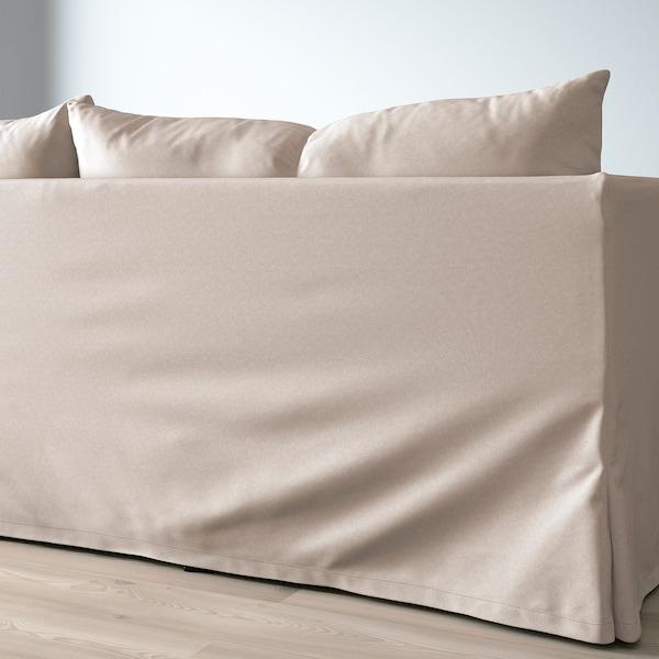 SANDBACKEN Sleeper sectional, 3-seat, Lofallet beige