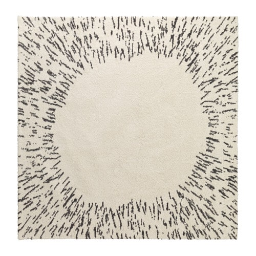 Sanderum Rug High Pile White Gray