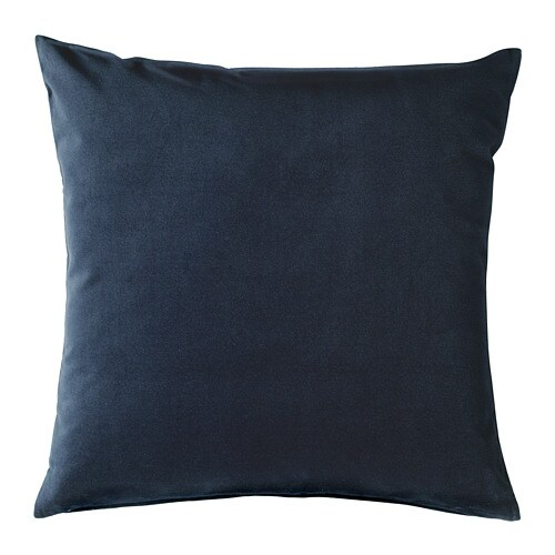 SANELA Cushion cover, dark blue