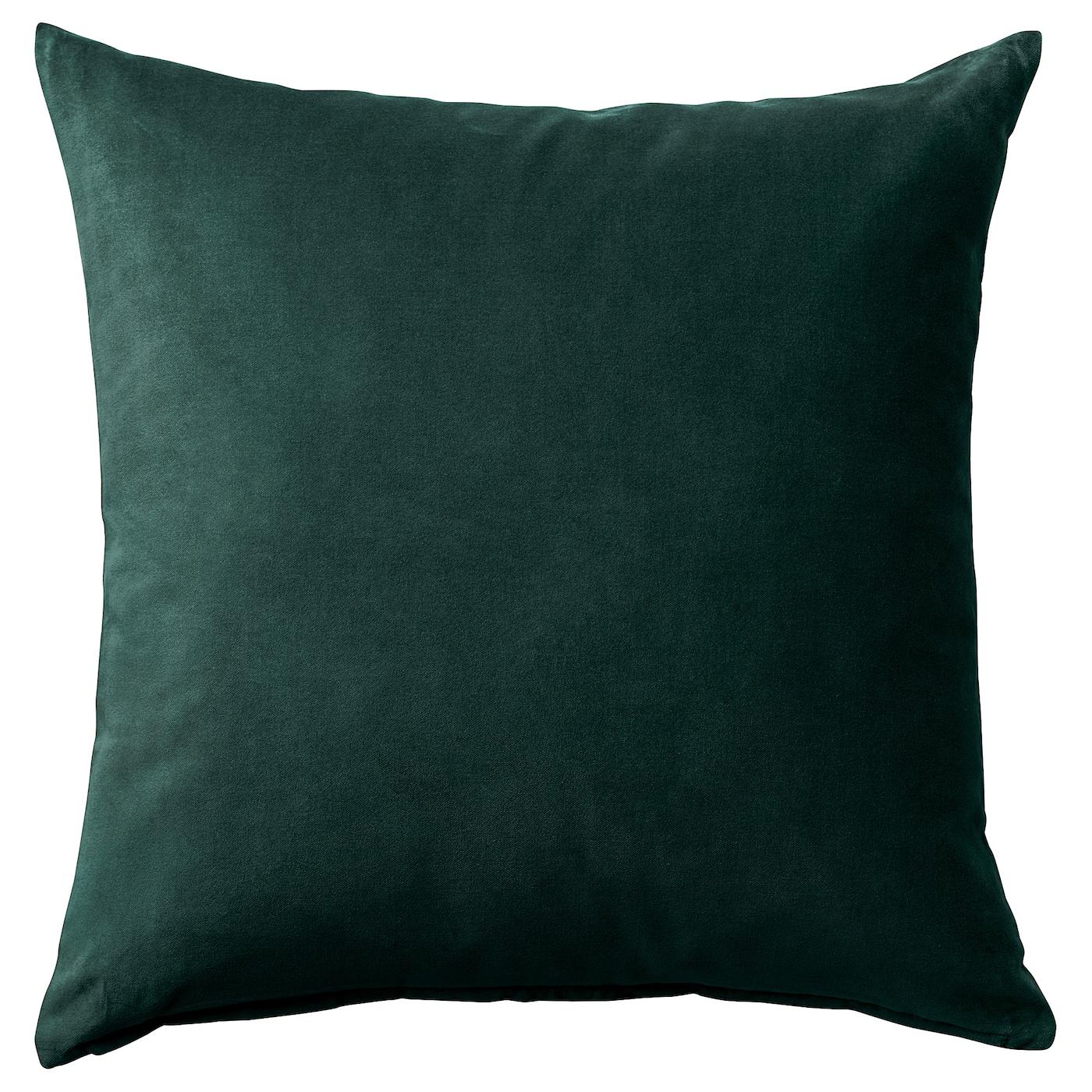 Shop SANELA Cushion cover, dark green from Ikea on Openhaus