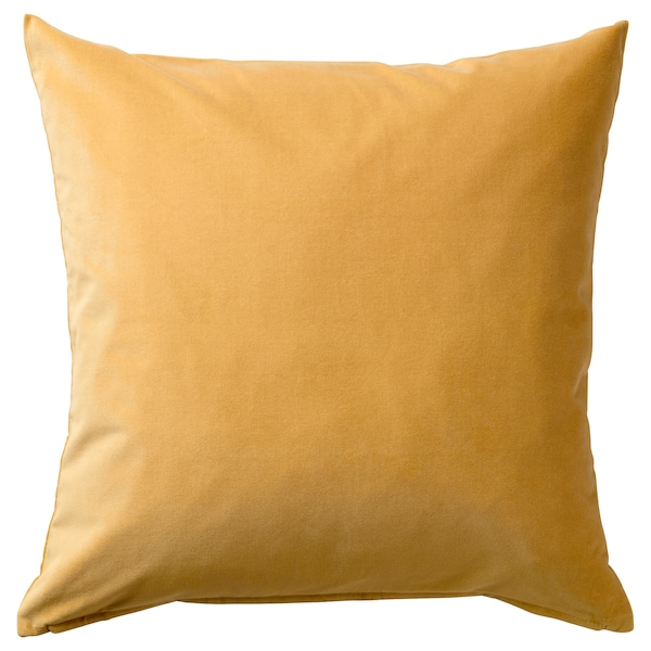 SANELA Cushion cover, golden brown, 20x20 ""