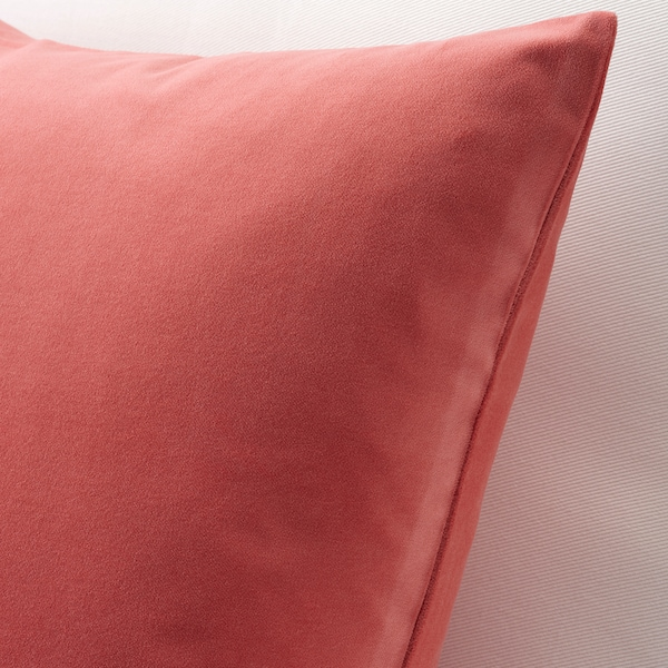 SANELA Cushion cover, light brown-red, 26x26 ""