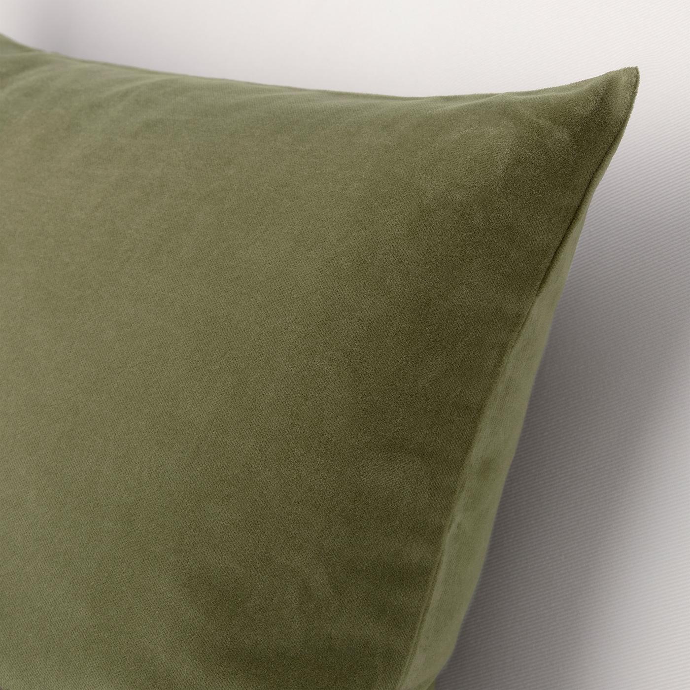 Sanela Cushion Cover Olive Green 20x20 Ikea
