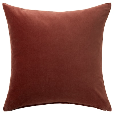"""SANELA Cushion cover, red/brown, 20x20 """""""