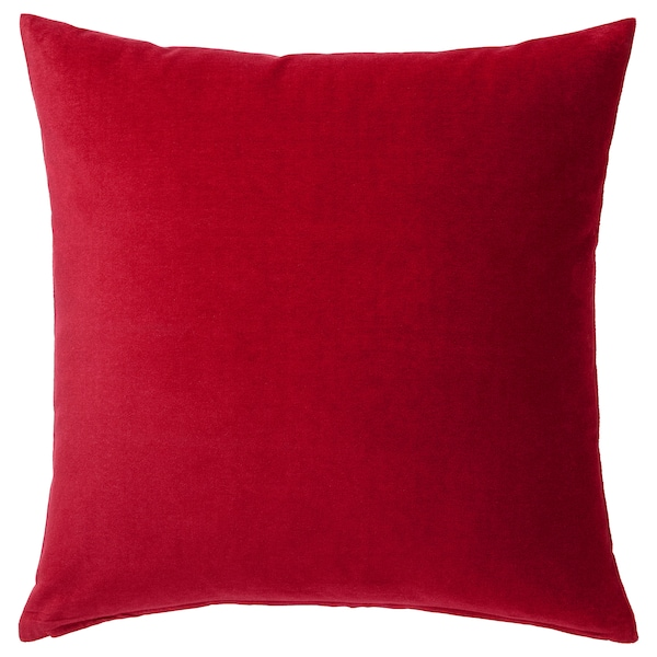 "SANELA cushion cover red 20 "" 20 """