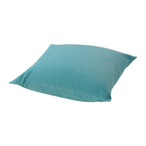 SANELA Cushion cover IKEA Cotton velvet gives depth to the color and is soft to the touch.  The zipper makes the cover easy to remove.