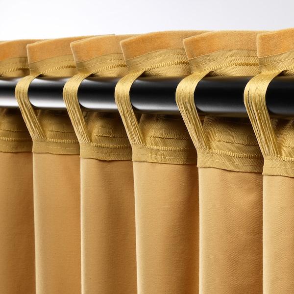 """SANELA Room darkening curtains, 1 pair, golden brown, 55x118 """""""