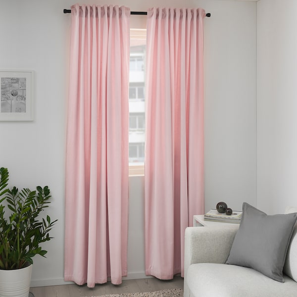SANELA Room darkening curtains, 1 pair, light pink, 55x98 ""