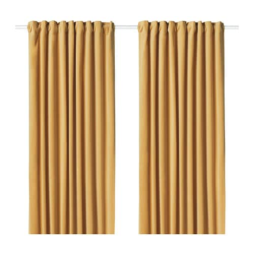 Sanela Room Darkening Curtains 1 Pair 55x98 Quot Ikea