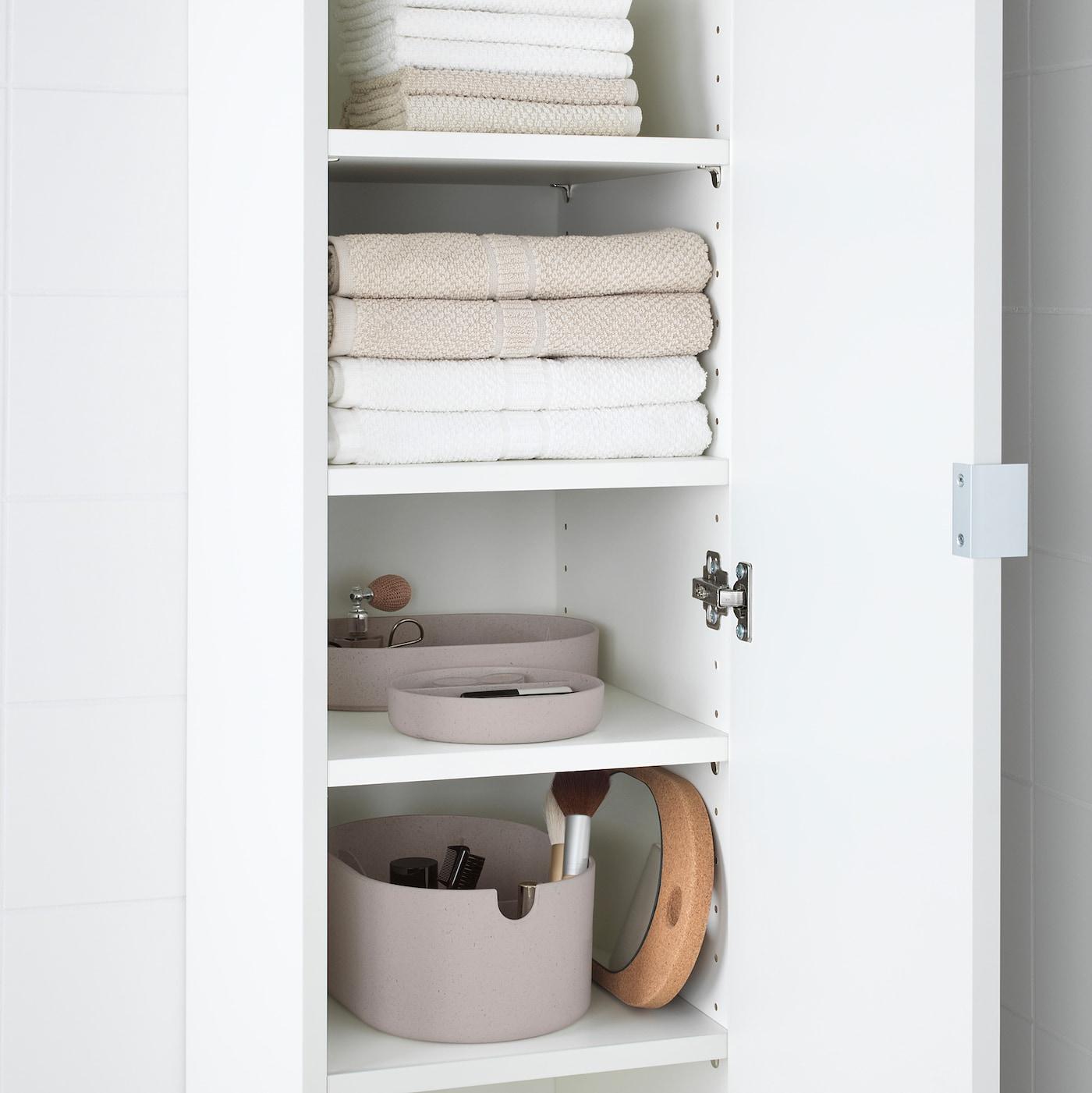 Saxborga Storage Box With Mirrored Lid Plastic Cork 9 X6 Ikea