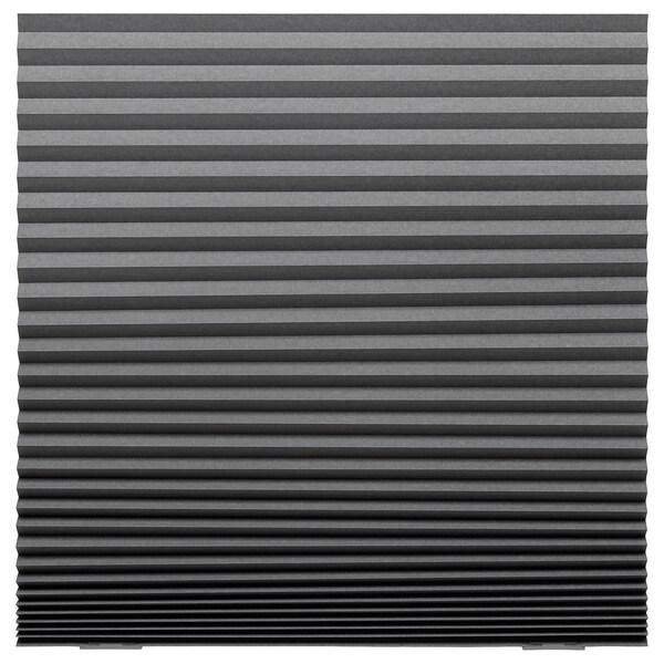 """SCHOTTIS Blackout pleated blind, dark gray, 39 ¼x74 ¾ """""""