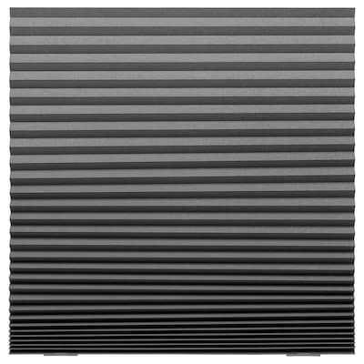 "SCHOTTIS blackout pleated blind dark gray 74 ¾ "" 39 ¼ "" 20.45 sq feet"