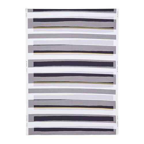 SEBRAGRÄS Fabric, white/black, yellow
