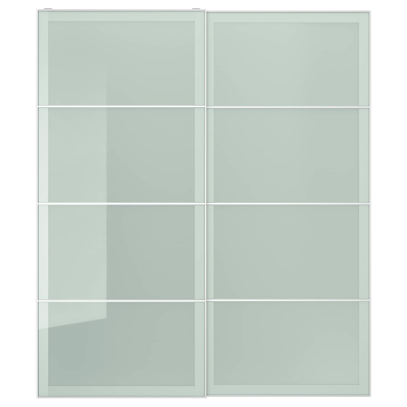 Sekken Pair Of Sliding Doors Frosted Glass 78 3 4x92 7 8 Ikea