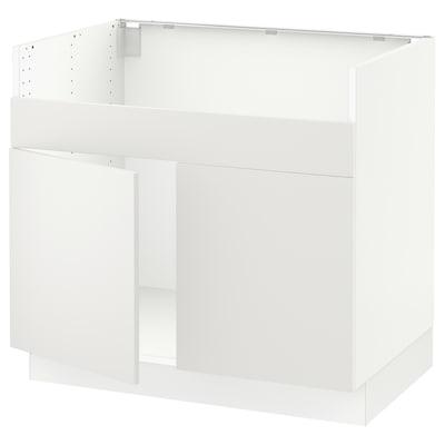 "SEKTION Base cab f HAVSEN double bowl sink, white/Häggeby white, 36x24x30 """