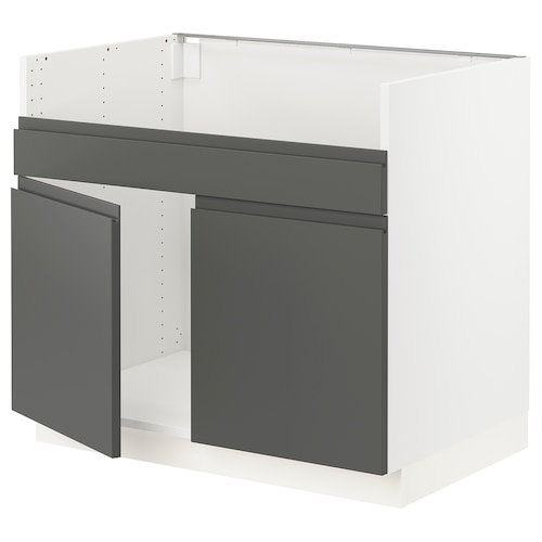 IKEA SEKTION Base cabinet for havsen 2 bowl sink