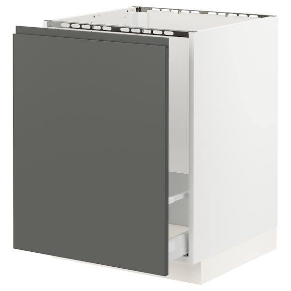 "SEKTION base cabinet f/sink & recycling white Maximera/Voxtorp dark gray 24 "" 24 7/8 "" 24 "" 30 """