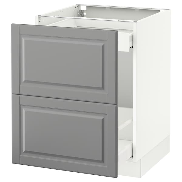 Base Cabinet For Recycling Sektion White Maximera Bodbyn Gray