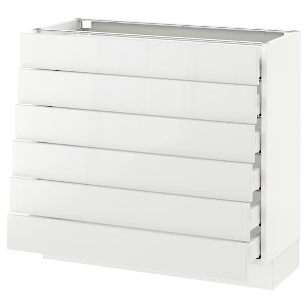 """SEKTION Base cabinet/6 fronts/6 low drawers, white Maximera/Ringhult white, 36x15x30 """""""