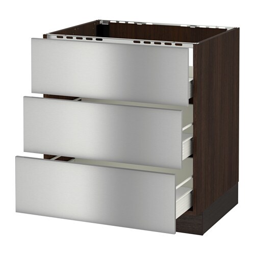 Top 5 Best Kitchen Cabinets Inserts For Sale 2017: SEKTION Base Cabinet F/cooktop W/3drawers