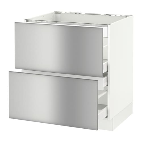 Stainless Steel Kitchen Base Cabinets: SEKTION Base Cabinet F/cooktop W/3 Drawers