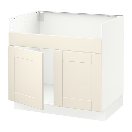 Sektion Base Cabinet F Domsj 214 2 Bowl Sink White