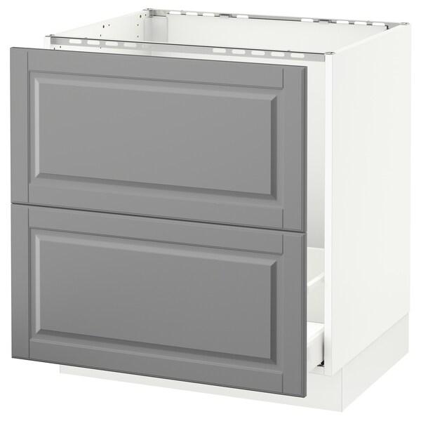 Sektion Base Cabinet F Sink Recycling White Maximera Bodbyn Gray 30x24x30 Ikea