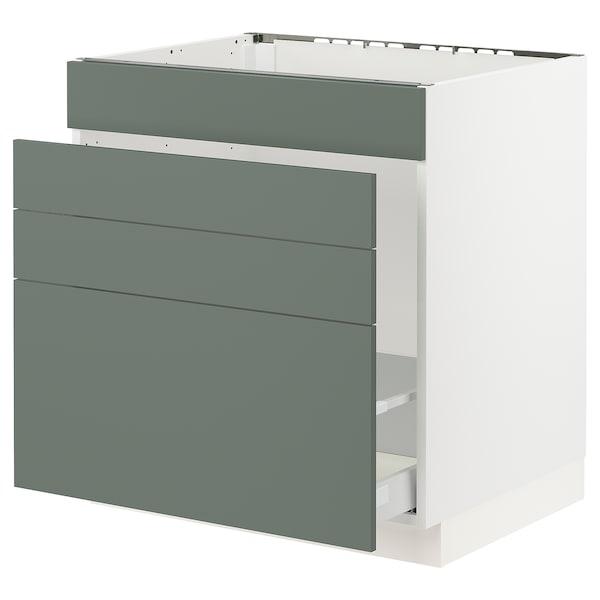 "SEKTION Base cabinet f/sink & waste sorting, white Maximera/Bodarp gray-green, 30x24x30 """