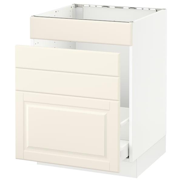 "SEKTION Base cabinet f/sink & waste sorting, white Maximera/Bodbyn off-white, 24x24x30 """