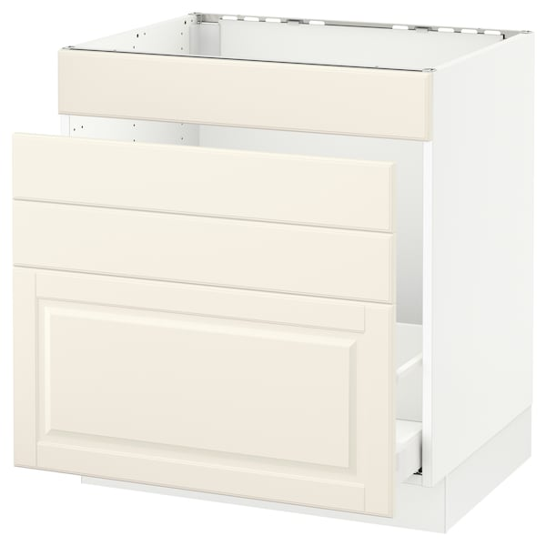 "SEKTION Base cabinet f/sink & waste sorting, white Maximera/Bodbyn off-white, 30x24x30 """