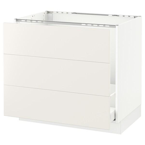 """SEKTION Base cabinet f/sink & waste sorting, white Maximera/Veddinge white, 36x24x30 """""""
